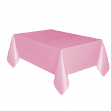 Lovely Pink Table Cloth - Plastic 9ft Tablecover 1pc